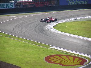 Autódromo José Carlos Pace - The first corner is the most popular overtaking spot.  Michael Schumacher passes Kimi Räikkönen at the 2006 Brazilian GP.