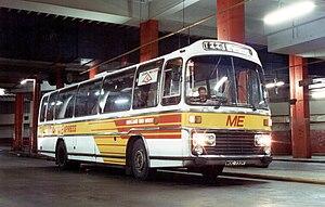 Leyland Leopard - Midland Red West Plaxton bodied Leyland Leopard in March 1989