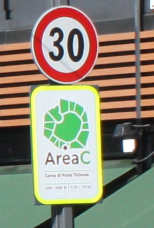 Milan Area C - Area C sign