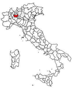 Location of Province of Milan