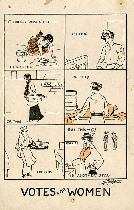 It Doesn't Unsex Her-a women's suffrage postcard from 1915 Milhousdrawing.jpg