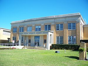 Milton, Florida - Santa Rosa County Courthouse