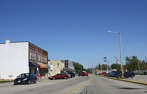 Milton, Wisconsin - Looking north in downtown Milton