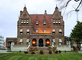 Pabst Mansion - The Pabst Mansion on Wisconsin Avenue at 20th Street in the Avenues West neighborhood.