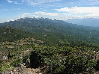 Yatsugatake Mountains - Image: Minami Yatsugatake from Mt.Kitayokodake 04
