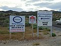 Mine signs along Dividend Road in Utah County, Utah, May 16.jpg