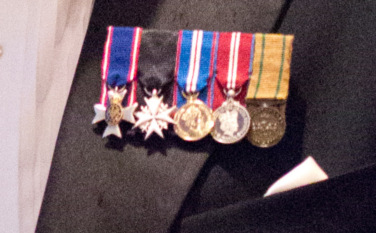Miniature medals with black tie