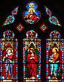Miradoux - Eglise Saint-Orens-et-Saint-Louis - Vitrail du chevet -1.JPG