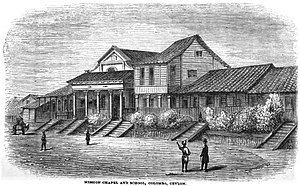 Wesley College, Colombo - Image: Mission Chapel and School, Colombo, Ceylon (p.168, November 1865, XXII)