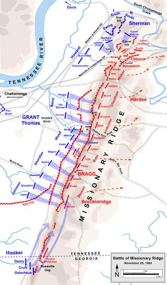Chattanooga Campaign Wikipedia - Battle of chickamauga map