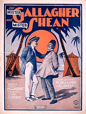 Mister Gallagher and Mister Shean - Cover of sheet music