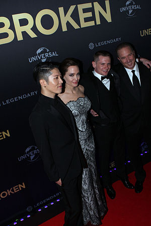 Unbroken (film) - Miyavi, Angelina Jolie, Jack O'Connell, Matthew Baer at Unbroken World Premiere in Sydney
