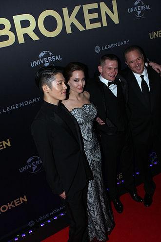 Unbroken (film) - Miyavi, Angelina Jolie, Jack O'Connell, Matthew Baer at Unbroken World Premiere in Sydney