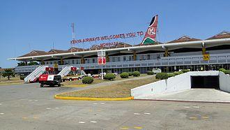 Moi International Airport - Image: Moi Airport Mombasa 2010