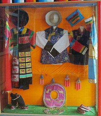 Monguor people - Tu's costumes