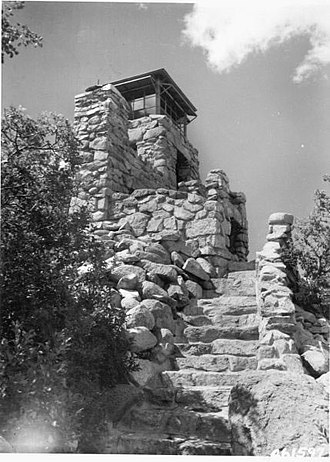 Lincoln National Forest - Monjeau Lookout tower.