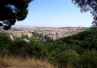 Monte Mario - The view from the park towards central Rome