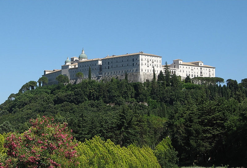 File:Monte Cassino abbey from cemetery.JPG