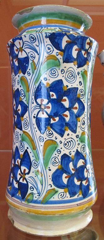 File montelupo albarello con decorazione floreale 1510 for Decorazione wikipedia