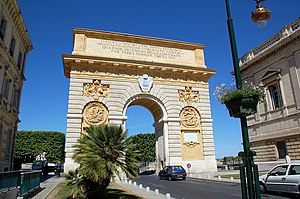 Triumphal arch Peyrou, Montpellier, Languedoc-...