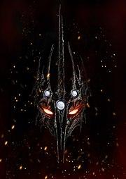 Morgoth coiffé de sa couronne de fer, parée des Silmarils.