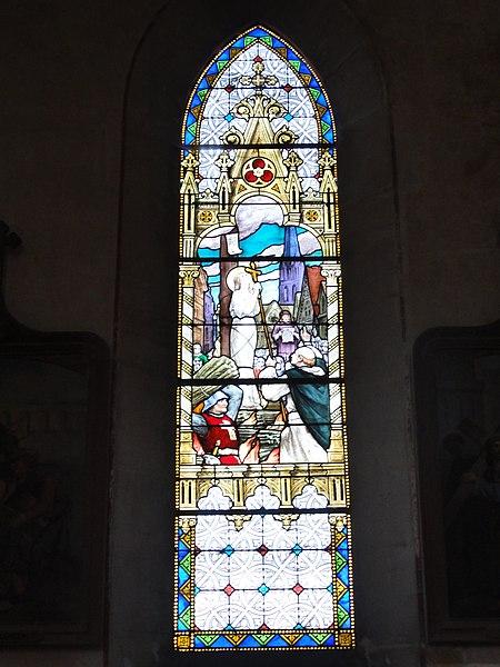 Morley (Meuse) église, vitrail 01