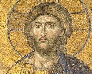 English: Deesis mosaic, Hagia Sophia, Istanbul...
