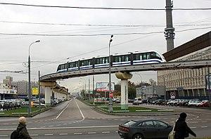 Moscow Monorail - Akademika Korolyova street (2011)