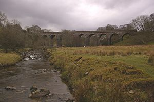 Mosedale Beck (Glenderamackin) - Mosedale Beck, looking downstream towards Molesdale Viaduct