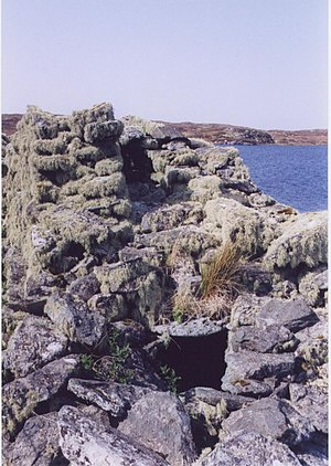 Dun Bharabhat, Great Bernera - Hollow wall of Dun Bharabhat