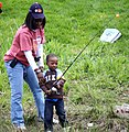 Mother and son fishing (5710560823).jpg