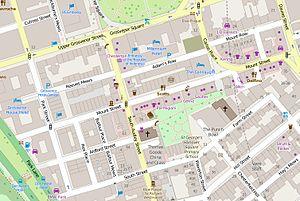 Mount Street, London - The immediate vicinity of Mount Street.