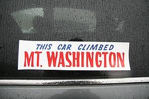Mount Washington Auto Road - Mount Washington bumper sticker