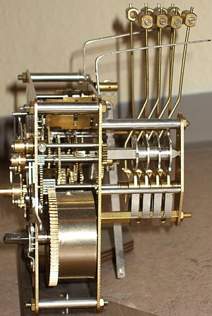 Clockwork - Movement of a grandfather clock with striking mechanism