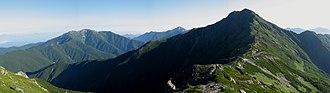 Minami Alps National Park - Mt.Kitadake and Mt.Senjogatake from Mt.Nakashirane
