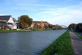 Dortmund–Ems Canal - Dortmund-Ems canal in Münster