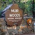 MuirWoodsAutoEntranceSign 20150920.jpg