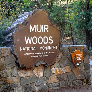 United Nations Conference on International Organization - Entrance sign to Muir Woods National Monument
