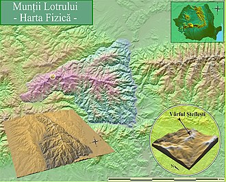 Lotru Mountains - Lotru Mountains (Physical Map)
