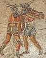Murmillo vs Thracian on Zliten mosaic.JPG