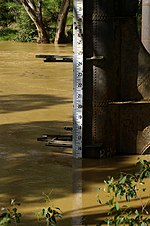 flood gauge at Murrumbidgee River