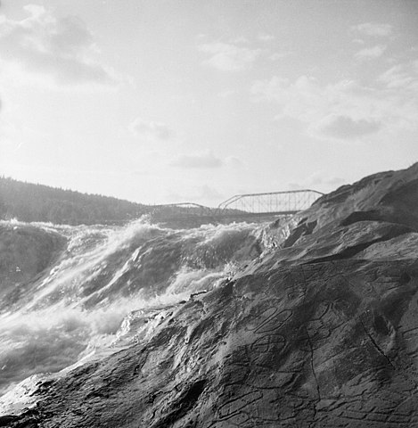 Rock carving area at Nmforsen rapids, dals-Liden, ngerm