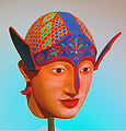 NAMABG-Painted Greek Warrior Head.JPG