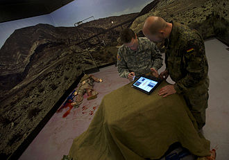 Medical simulation - Image: NATO Special Ops train to save lives 08