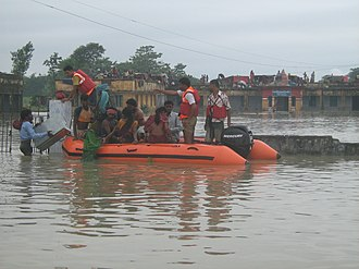 National Disaster Response Force - Rescue and relief operations during the Kosi breach in Bihar