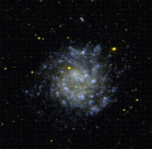 Dwarf spiral galaxy - NGC 5474, an example of a dwarf spiral galaxy