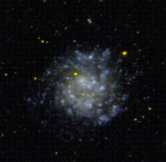 Dwarf spiral galaxy - NGC 5474, an example of a dwarf spiral galaxy