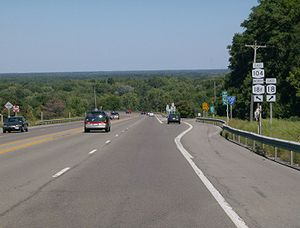 New York State Route 18F - Erroneous NY 18F signage on NY 104