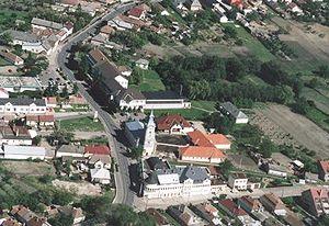 Nagyhalász - Image: Nagyhalász légifotó