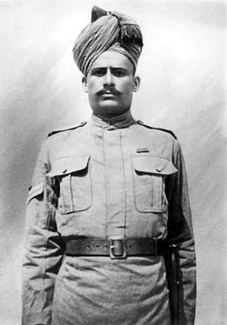 8th Punjab Regiment - Image: Naik Shah Ahmad Khan, VC, 89th Punjabis, 1916 copy 2